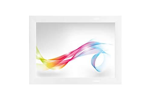 Framo \'Artist\' 40 x 170 Bilderrahmen (Weiss Hochglanz) nach Maß, 35 mm breiter MDF-Holz Rahmen inkl. entspiegelter Anti-Reflex Acrylglasscheibe, stabilisierender Rückwand, Biegestiften und Aufhängern