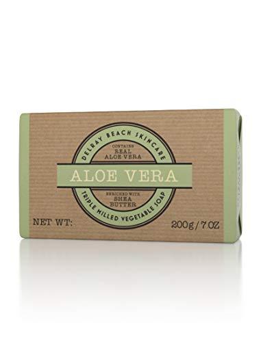 Delray Beach Skincare Aloe Vera Triple Milled Vegetable Soap