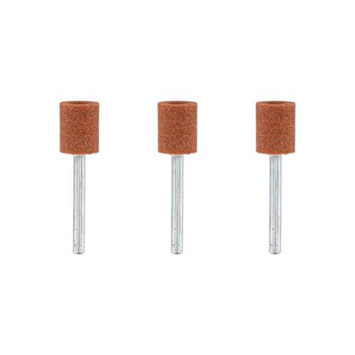 Dremel 932 Korund-Schleifspitze - Zubehörsatz für Multifunktionswerkzeug mit 3 Schleifspitzen 9.5mm zum Schärfen, Glätten und Schleifen von Metall, Gussteile, Schweißverbindungen, Nieten und Rost