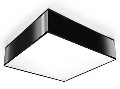 NOVEDAD! Plafón Negro de cocina y habitación - PVC - SOLLUX HORUS 35 SL.0136 lámpara de techo cuadrada, estilo moderno, de dos luces LED E-27 *** LÁMPARAS - Los precios más bajos en Amazon!