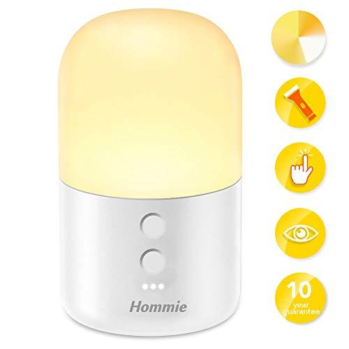 Luz Nocturna Infantil,Hommie 2 EN 1 LED Luz Bebé Nocturna y