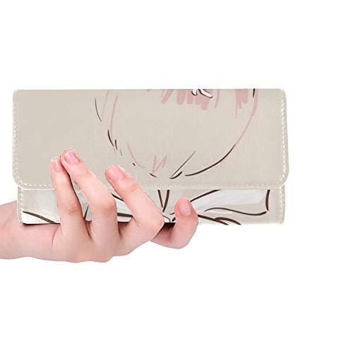 Unique Custom Belle Accessoires De Cheveux De Mariage Mariée Ses Femmes Trifold Portefeuille Longue Bourse Porte-Carte De Crédit Cas Sac À Main