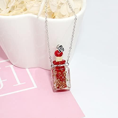 1PC Botella de Perfume Joyería Conmemorativa Collar de Cristal Que Brilla intensamente en la Oscuridad Collar de Recuerdo de joyería de cremación