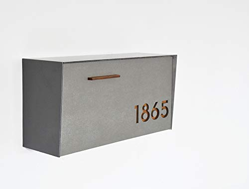 Modern mailbox with concrete face