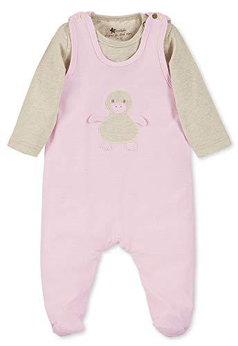 Sterntaler Jersey Strampler-Set Ente für Mädchen, Alter: 0-2 Monate, Größe: 50, Rosa/Beige, 2601900