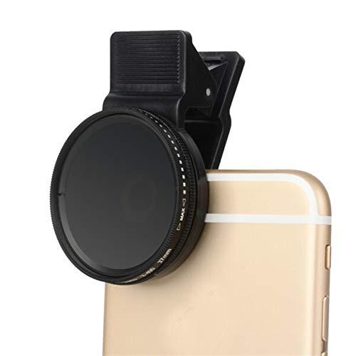 Ultra Delgado, Impermeable Densidad Neutra de 37 mm Ajustable Clip-en ND2 - Lente de Filtro de cámara de teléfono ND400 for iPhone for Huawei Samsung Android iOS Mobile para Lente de cámara