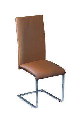 Links Arizona 30200860 - Silla de Comedor, Color marrón y Plateado