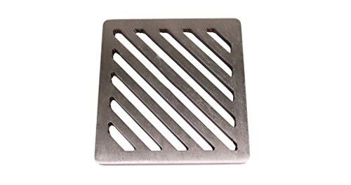 Abflussgitter aus Edelstahl, quadratisch, 135 mm, 13,5 cm, massiver Stahl