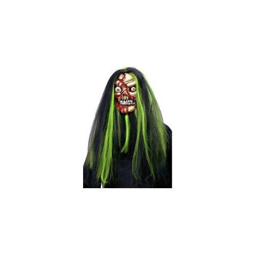 Funpack - MAHAL291 - Masque souple halloween avec cheveux bicolores adulte pvc 2