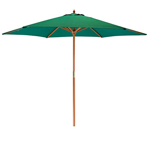 Harbour Housewares Sun Parasol Umbrella - Pully Operated, Hardwood,...