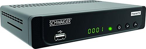 SCHWAIGER -662252- DVB-T2 Full HD Receiver FTA Freenet TV Antenne terrestrisch digital Empfänger HDMI Scart USB LAN Mediaplayer Dolby Surround IRDETO 1080p