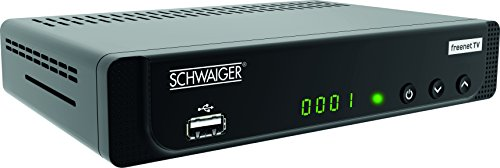 SCHWAIGER -662252- DVB-T2 Full HD Receiver FTA Freenet TV Antenne terrestrisch digital Empfänger HDMI Scart USB LAN Mediaplayer Dolby Surround IRDETO 1080p