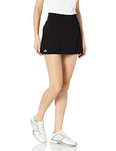 adidas Vestido de Mujer con Falda Club, Mujer, Vestido, FVX01, Negro/Plateado Mate/Blanco, XXS
