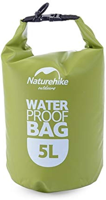 Vacation 5L Outdoor PVC Cloth Trekking River Drifting Waterproof Bag Ultralight Swimming Bag Convenient (color   Green)