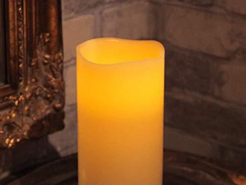 Star LED-Leuchtkerze mit Echtwachs, flackernd, Timer, batterie betrieben, Sichtkarton 20 x 10 cm, warmweiß 068-66