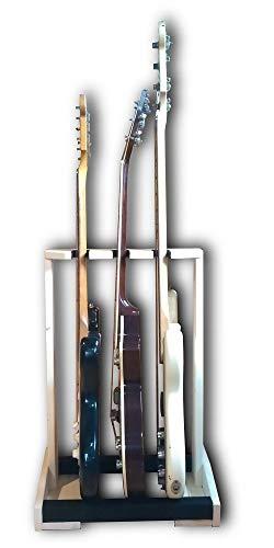 天然木 エレキ用 ギタースタンド3本掛 フェンダー ギブソン等のストラトタイプ・テレキャスタータイプ・レスポールタイプに最適な設計!!【ギターラック/保管/ギタースタンド】