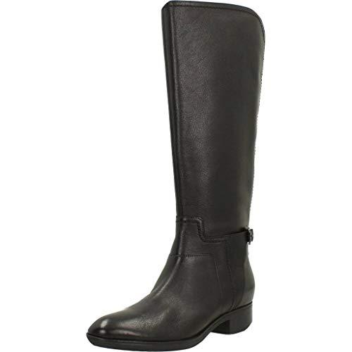 Geox Damen D Felicity B Hohe Stiefel, Schwarz (Black C9999), 40 EU