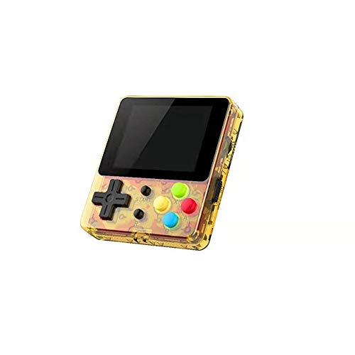 FC188 Handheld Game Console 2.4 inch IPS Screen 8-bit TV video Game Console 128MB built-in 188 Mini Retro Handheld Game Console (Gold)