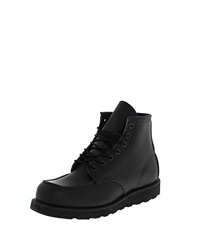 Red Wing Boots 6-Inch Classic Moc Toe Boots - Black Skagway