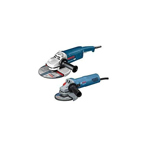 Bosch Winkelschleiferset bestehend aus: Winkelschleifer GWS 22-230 JH, 2.200 Watt, 230 mm Einhandwinkelschleifer GWS 880, 880 Watt, 125 mm