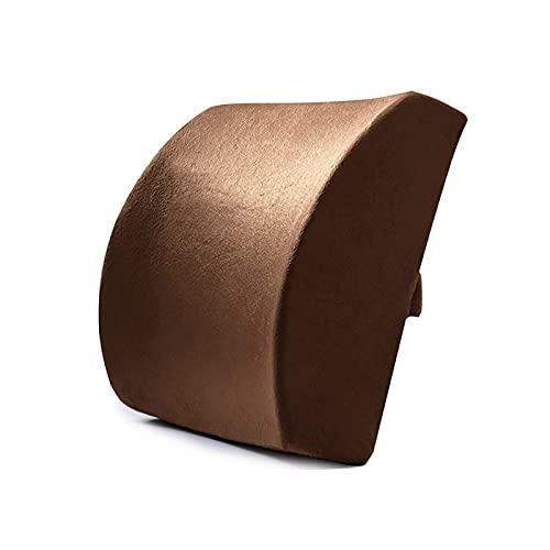 Almohada para la Espalda Almohada Lumbar para automóvil Cojín Lumbar ergonómico Almohada de Soporte de Espuma viscoelástica Almohada para el Dolor de Espalda Lord Support Cojín de Asiento c