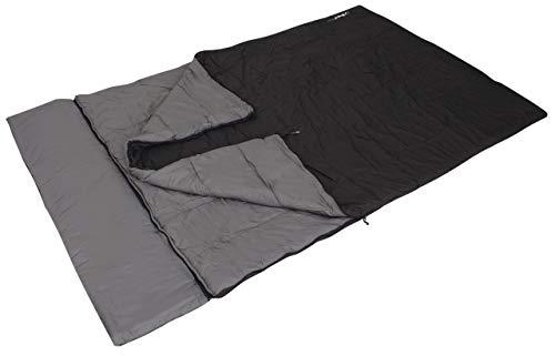 Euro Trail Inca Sac de couchage pour 2 personnes Dimensions : 200 + 30 x 150 cm (2 x 200 x 75 cm) Longueur max. du corps : 190 cm