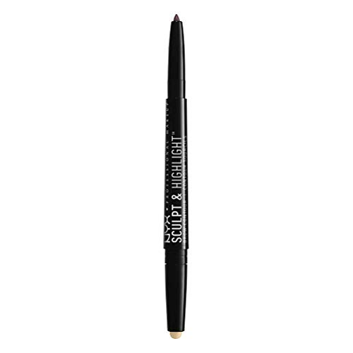NYX PROFESSIONAL MAKEUP Sculpt & Highlight Brow Contour, Eyebrow Pencil, Taupe Vanilla
