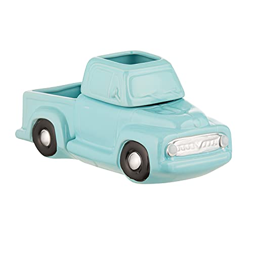 JULIE ANN HOME Ceramic Candle Wax Warmer, Vintage Blue Truck with Safety Timer | Automatic Plug in Fragrance Warmer for Scented Wax Melts, Cubes, Tarts | Retro Farmhouse Air Freshener Set