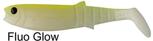 Savage Gear Cannibal Shads Gummifisch (6,8cm, 8cm, 10cm, 12,5cm) , Gummiköder, Hechtköder, Angelköder, Kunstköder, Barschköder, Zanderköder, Köder für Hecht, Zander, Barsch, Waller, Dorsch & Heilbutt, Länge / Gewicht:8cm / 5g, Farbe:Fluo Glow