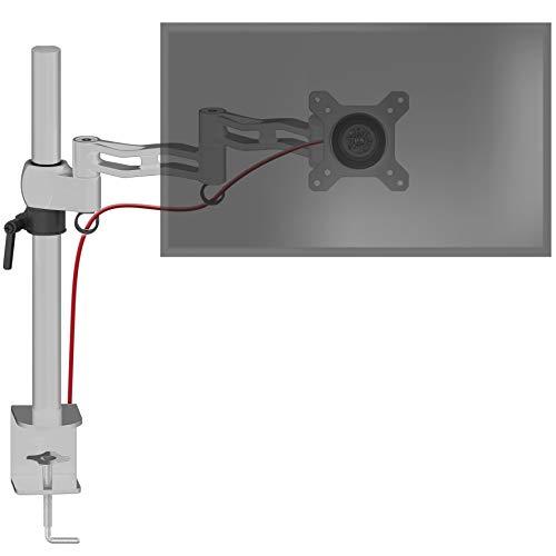 Duronic DM351X3 SR Soporte para Monitor de 13' a 27' Pulgadas Pulgadas 8Kg máx - Altura Ajustable, Giratorio, inclinable, 2 Brazos Extensibles – Soporte para Ordenador, TV LED, LCD Color Plata