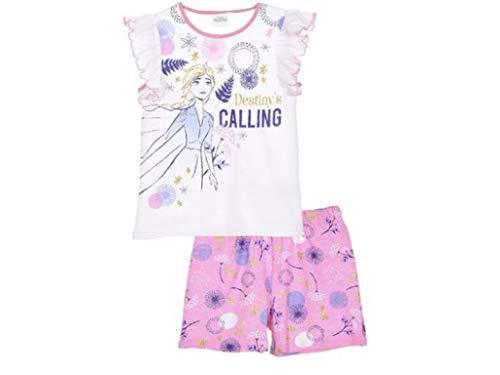 Pijama corto de Frozen. Rosa. 104 cm