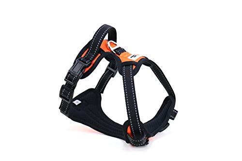Petzmotion Sicherheits-Hundegeschirr, verstellbar, reflektierend, mit Griff, strapazierfähiges atmungsaktives Material