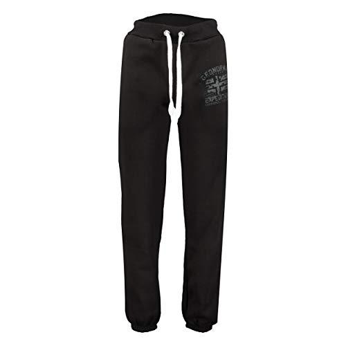 GEO NORWAY Pantalones de deporte para hombre de Múlu, pantalones de chándal para hombre, pantalones de chándal informales, pantalones cargo de algodón, poliéster Negro L