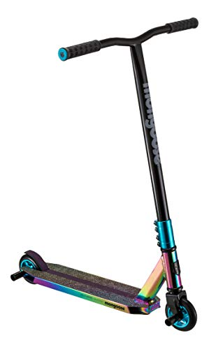 Mongoose Rise 100 Pro Youth and Adult Freestyle Kick Scooter, High Impact 110mm Wheels, Bike-Style Grips, Lightweight Alloy Deck, Oil Slick