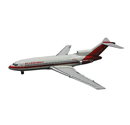 JHSHENGSHI Luftflugzeuglegierungsmodell im Maßstab 1:400, Allegheny Aviation Boeing 727 Aviation Airliner mit Standdekorationen, 3,9 Zoll & Zeiten; 3,3 Zoll