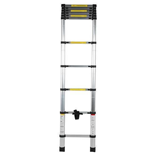 Socobeta Escalera telescópica de 30 cm de separación escalera plegable aleación de aluminio durable para la decoración