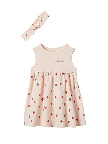 VERTBAUDET Kleid mit Haarband für Baby Mädchen zartrosa 68