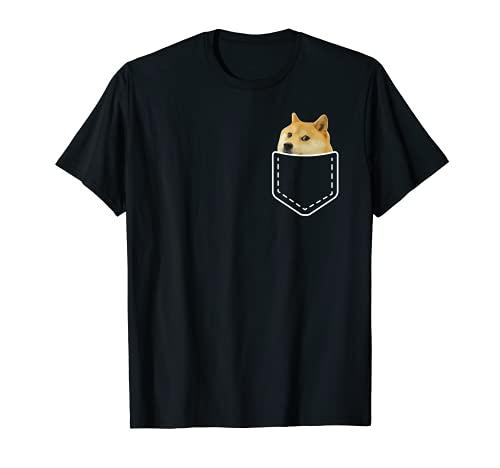 Doge Shiba Inu Pocket Tee   dank Meme Doge wie WOW