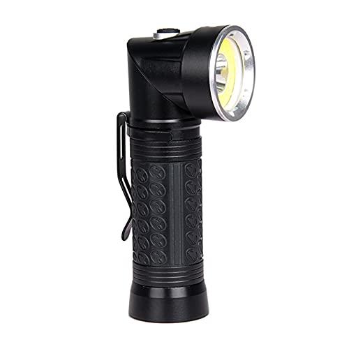 Adecuado para al aire libre Linterna de trabajo giratoria de COB 90 grados Potesas antorchas LED Lámpara portátil blanca/luz roja linternas