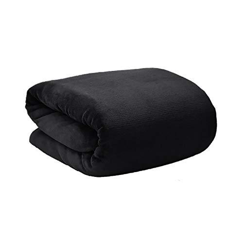 Manta Polar para sofá, Super Soft. Modelo Tíbet 190 X 130 cm. de Colores - Hogar y más - Negro