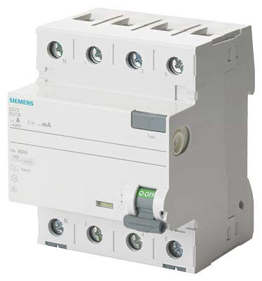 Siemens sentron - Interruptor diferencial 5sv 70mm clase -a 4 polos 40a 30ma