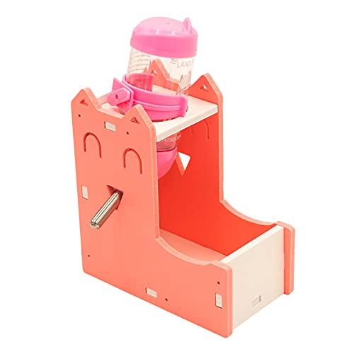 FUFUFU PRO ハムスター ハリネズミ 小動物 餌やり器 えさ入れ 給水器 コンパクト 飲みやすい 給餌と給水がこれ一台で (ピンク)