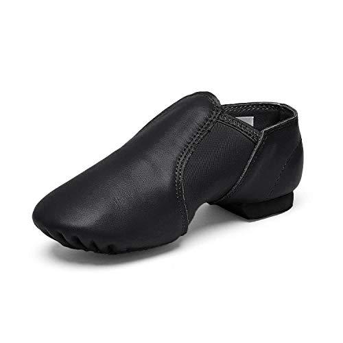 Stelle Leather Jazz Slip-On Dance Shoes for Girls Boys Toddler Kid (12ML  Black)