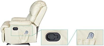 M/áxima Calidad Beige 8 Motores De Vibraci/ón Sill/ón Relax Masaje Reclinable Calor Lumbar Deluxe