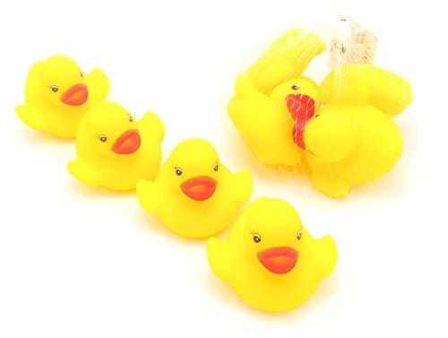 Z&H Paquete de 2 Patos de Goma, 8 Patos de Goma Amarillos, Juguetes de baño.