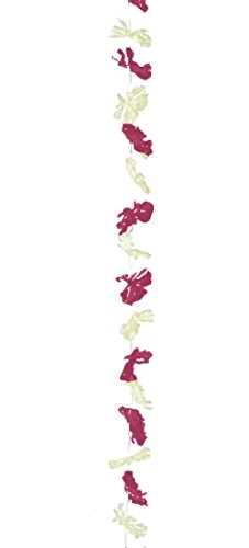 France cotillons Guirlande Fleurie à Suspendre Oeillets Ivoire et Bordeaux 2 m Ø 8 cm décoration fêtes à thème