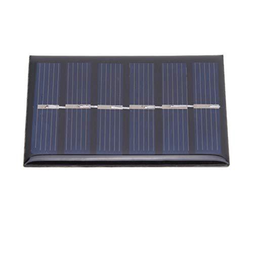 FOLOSAFENAR Panel Solar con Cable epoxi portátil 3V 100mA 0.3W Panel de Cargador de energía Solar 4 Piezas para Todos los pequeños electrodomésticos para semáforos, Ventiladores eléctricos