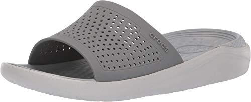 Crocs Unisex-Erwachsene Literide Slide Sandalen, Grau (Smoke/Pearl White 06j), 39/40 EU