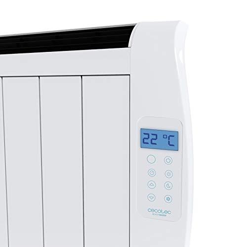 Cecotec Radiador Eléctrico Bajo Consumo Ready Warm 1800 Thermal 8 Elementos, 1200W, De pared o pie, 3 Modos, Temporizador, Mando a Distancia, Pantalla LED, Protección sobrecalentamiento, Ultrafino