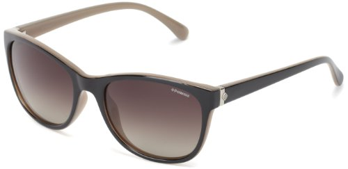 Polaroid Damen Sonnenbrille, Gr. One Size, Schwarz (Black/Brown)